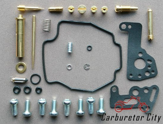 Comprehensive Service Kit for Mikuni BDS Carburetor on Yamaha XV 535 Virago  - REAR
